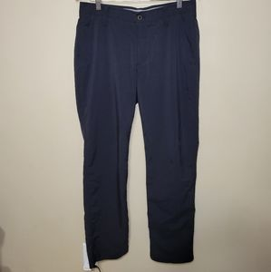 Under Armour Gray Nylon Athletic Pant Size 34/34